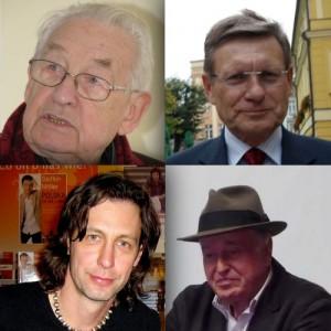 fot. Ja Fryta (Leszek Balcerowicz), Tomasz Leśniowski (Jan Nowicki),  Sławek (Szymon Majewski), Mariusz Kubik (Andrzej Wajda) [CC BY-SA 2.0 and CC BY-SA 3.0], via Wikimedia Commons