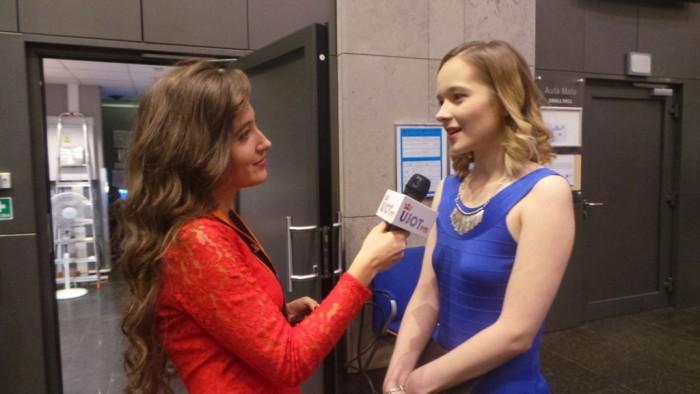 Katarzyna Wilk nagrodzona w kategorii AkumulaTOR podczas wywiadu z Magdaleną Cygan (NEWSY UJOT FM)