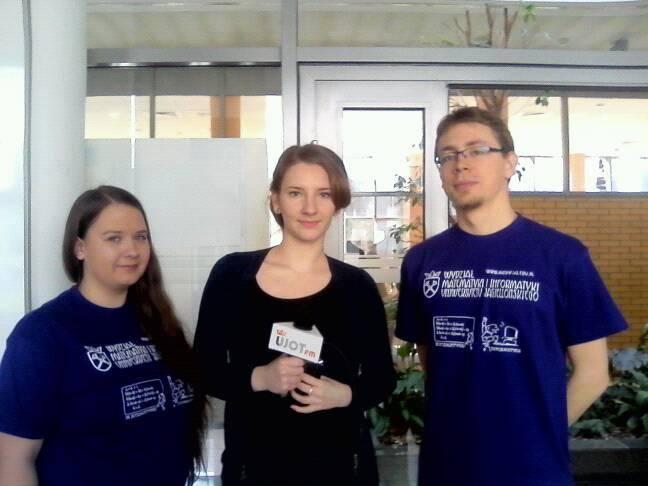 Reporterka Anna Kopeć w rozmowie z organizatorami