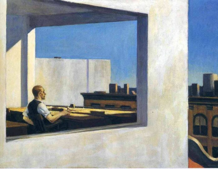 Edward Hopper, Office in a Small City, 1953