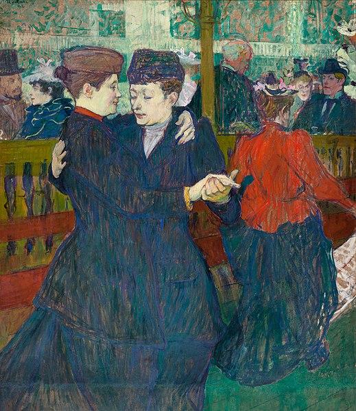 Henri de Toulouse-Lautrec Two Women Waltzing 1892