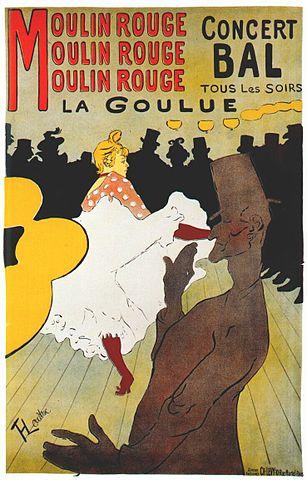 Henri de Toulouse-Lautrec Moulin Rouge, La Goulue plakat 1891