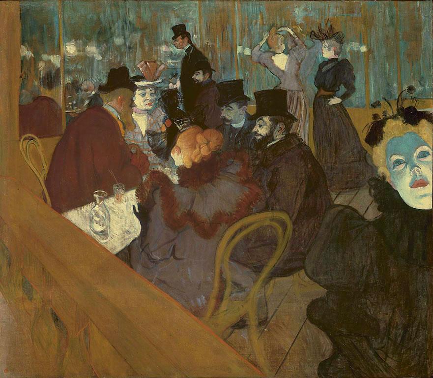 Henri de Toulouse-Lautrec At the Moulin Rouge 1892