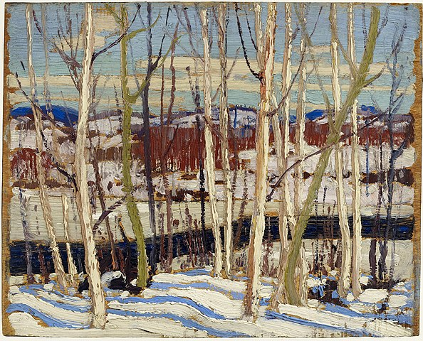 Tom Thomson, Open Water, Joe Creek, Spring 1917, Thomson Collection, Art Gallery of Ontario, Toronto