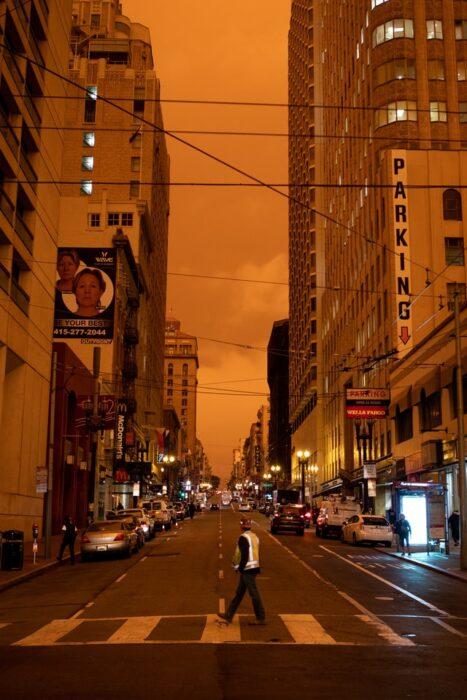 San Francisco w czasie pożarów w Kalifornii