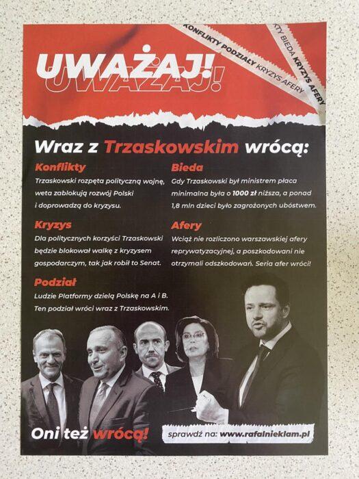 Uważaj, wraz z Trzaskowskim wrócą